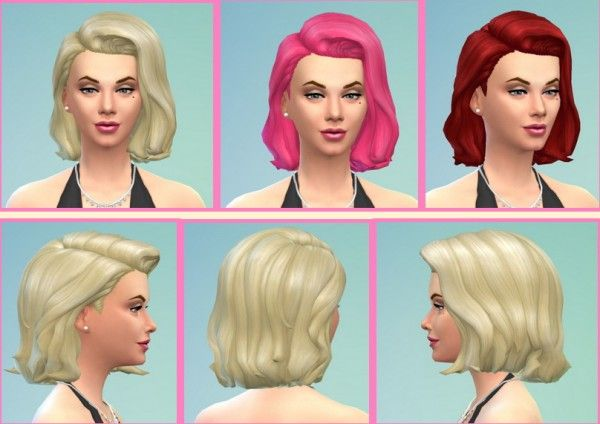 Birkschessimsblog: Marilyn Hair • Sims 4 Downloads | sims 4