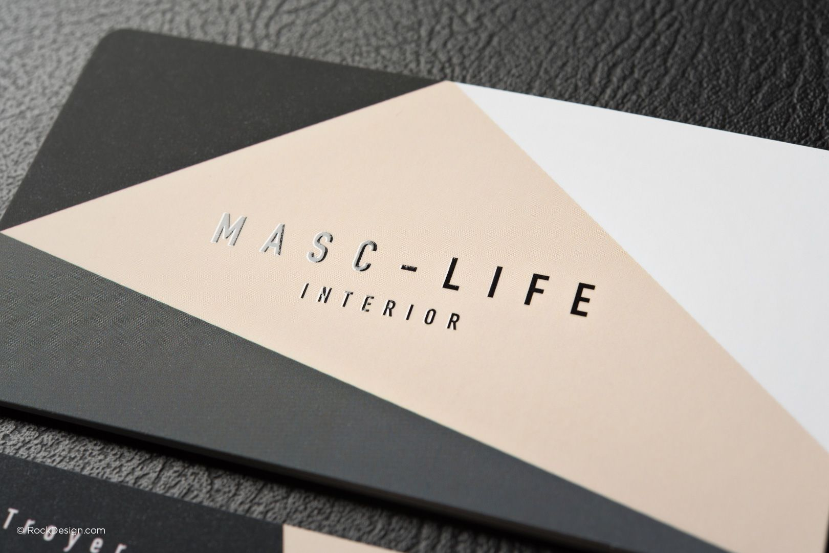 Modern elegant regular suede business card template with spot uv