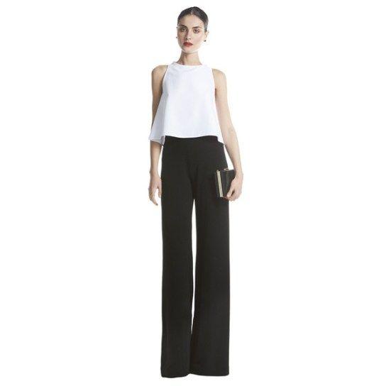 Pantalón y crop top de Bruna Collection para invitada de boda ...