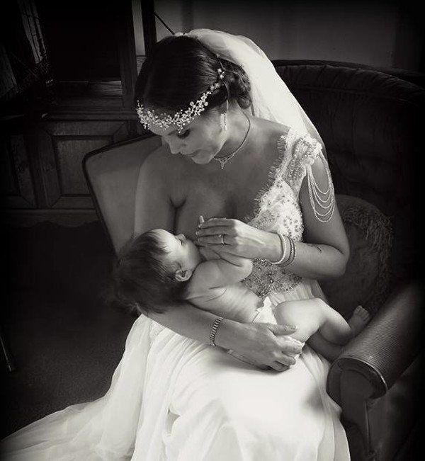Image result for breastfeeding bride