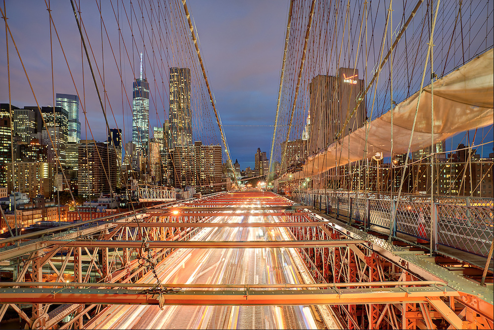 Brooklyn Bridge Summer  by Michael Tischler