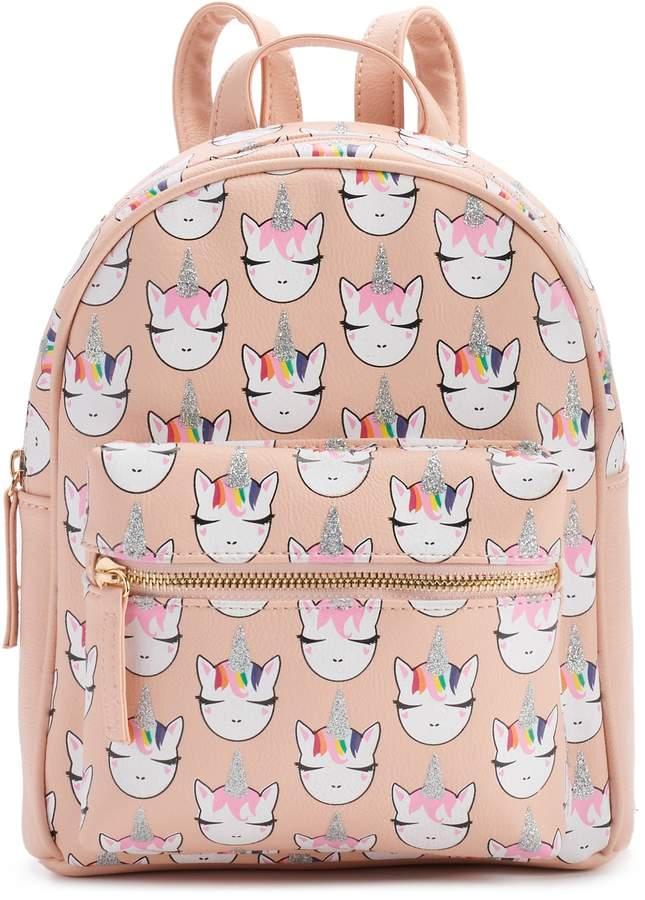 Omg Accessories OMG Accessories Glitter Unicorn Mini Backpack in ... 7b06a42c1b087
