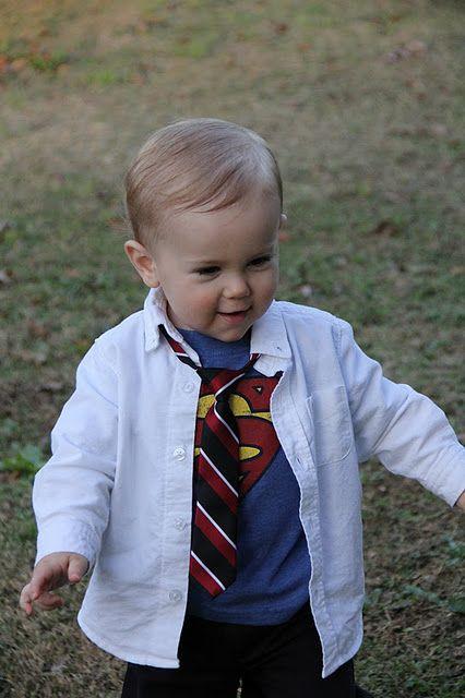 Cutest little boy costume idea - Clark Kent!! I love it!! Cute - unique toddler halloween costume ideas