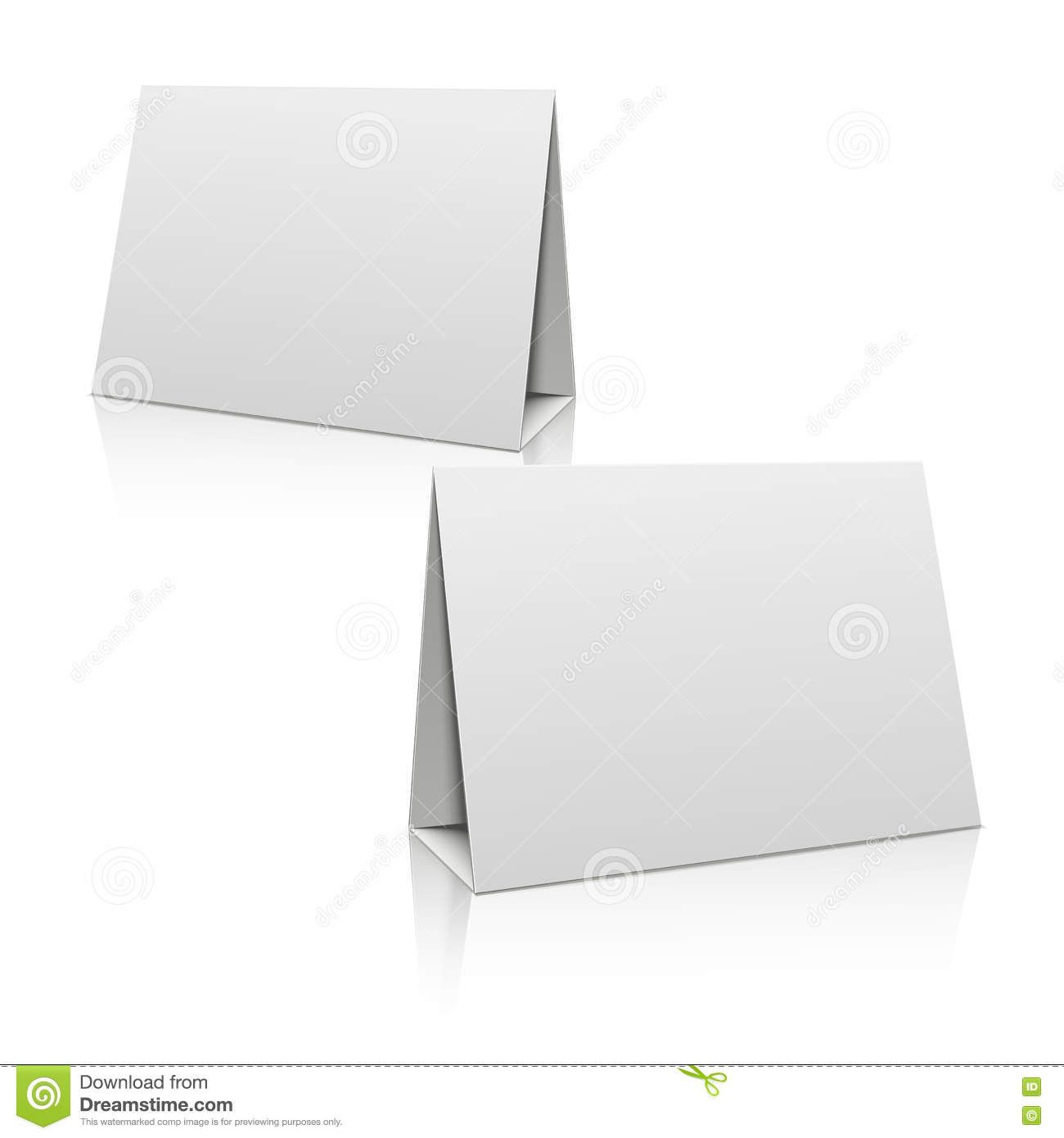 Blank White Paper Stand Table Holder Card 3d Vector Design In Card Stand Template Business Professional Templates Paper Stand Card Template Design Template