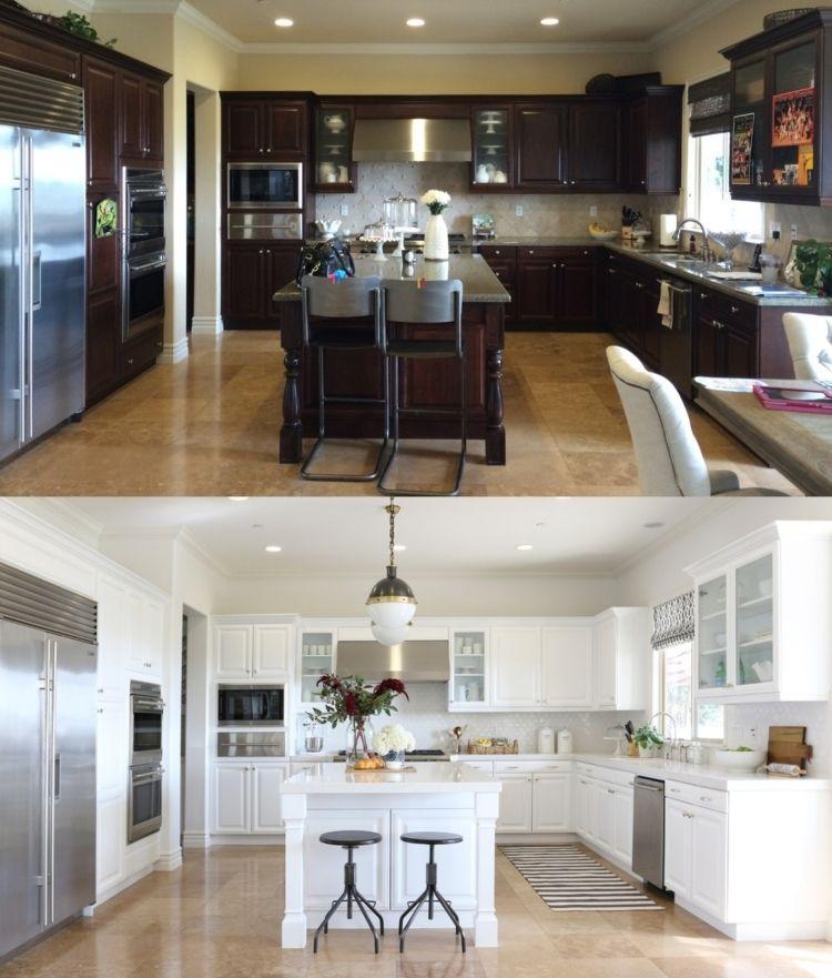 Küchenfronten austauschen \u2013 37 Vorher-Nachher Beispiele #austauschen