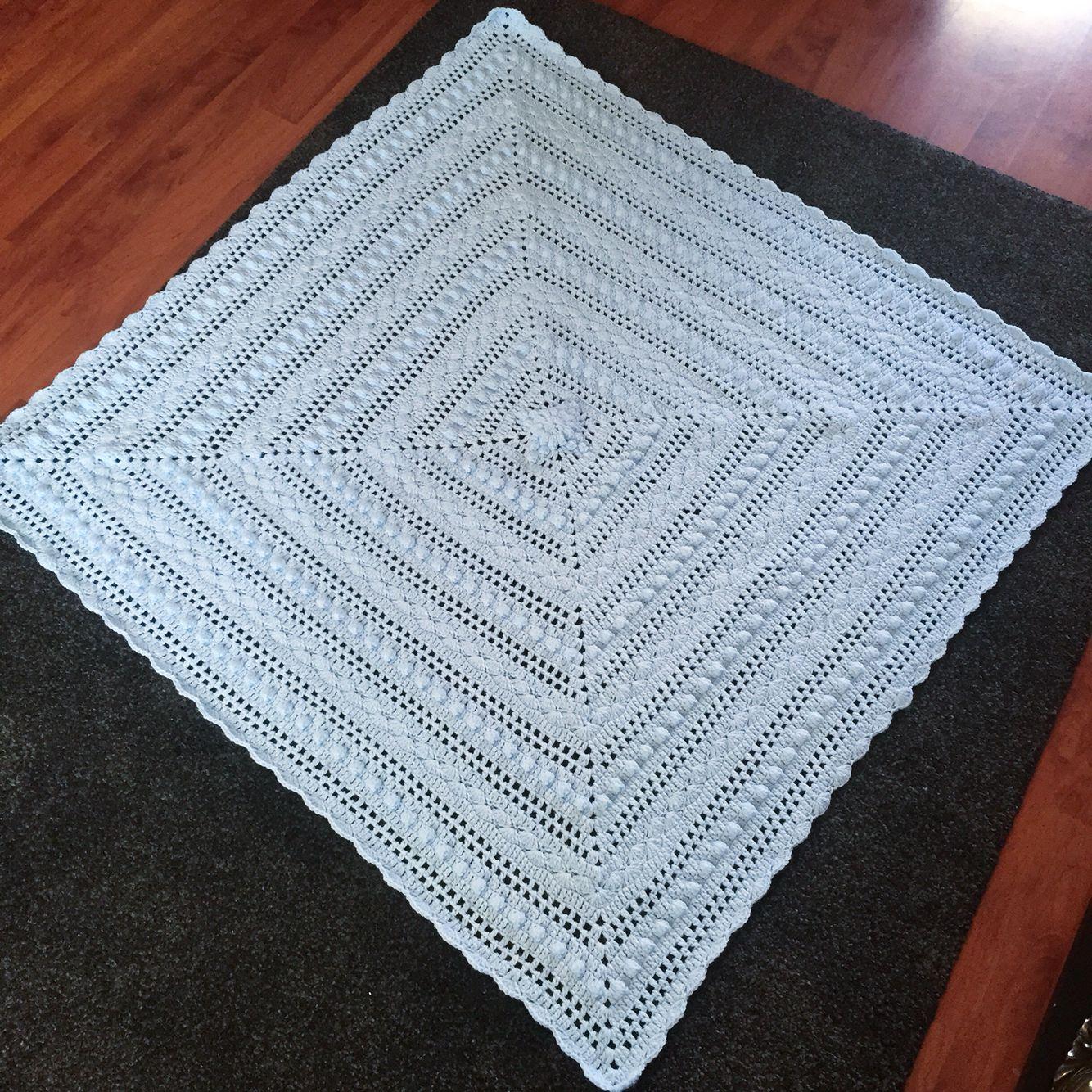 Crochet Lace Blanket \'Lace Baby Blanket\' pattern by Amy Dorr \'Baby ...