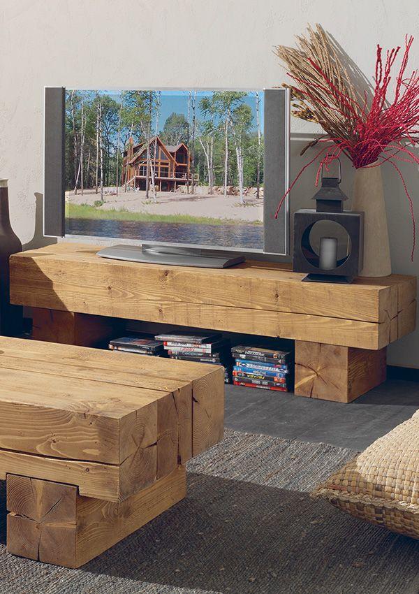 Meubles Tv En Bois Massif En Teck Au Design Scandinave