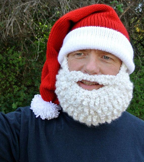 Father Christmas Beard Bobble Hat - #santa #christmas #funny #cool ...