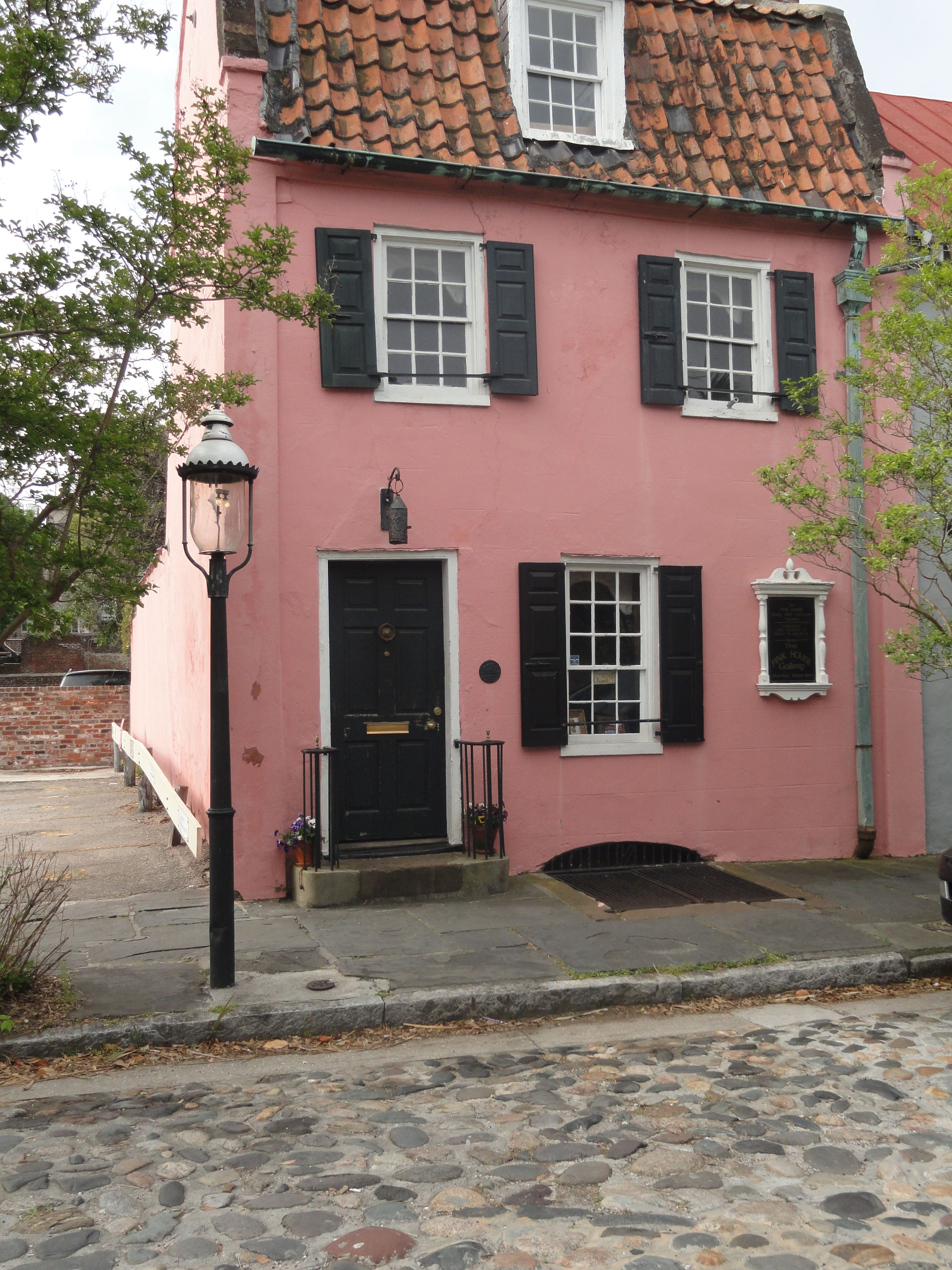 Little pink house in Charleston, SC.  Actually used to be a house that the sailors frequented when they got off the ships!