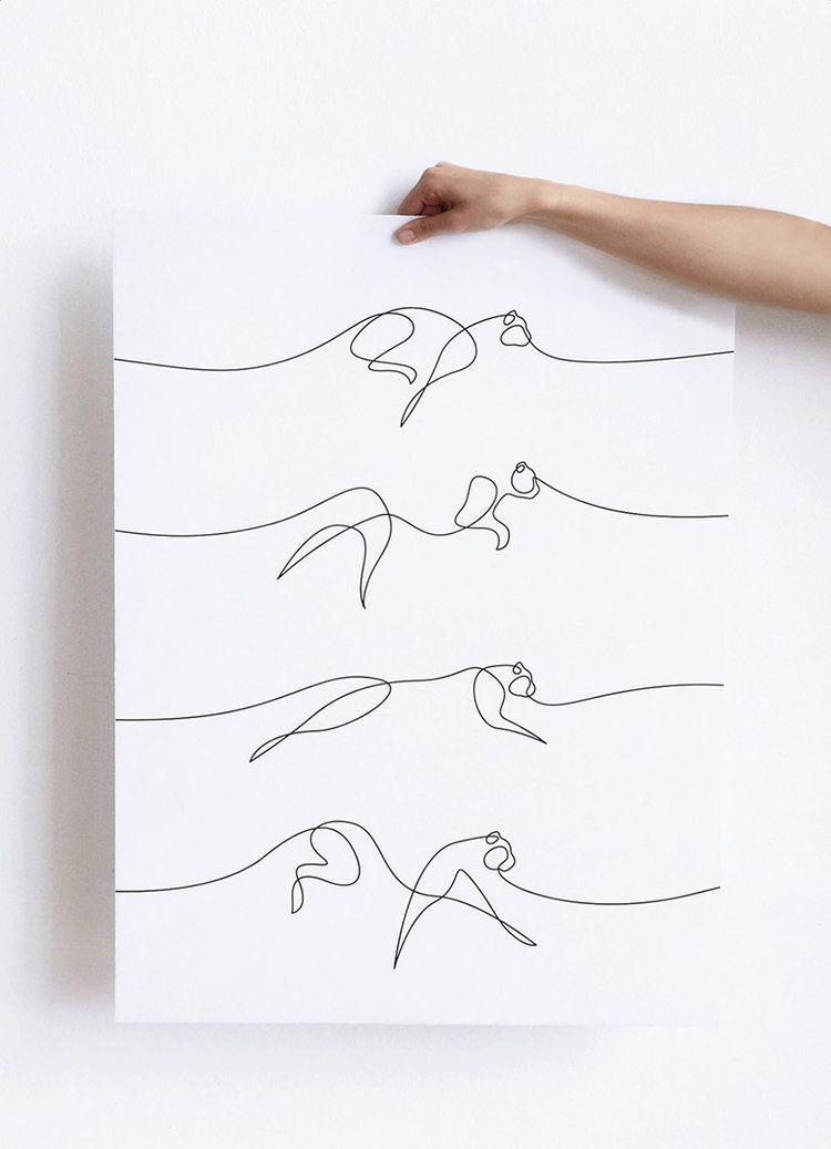 One Line Animal Cheetah Single Line Illustration By Minimalist Artists Dft Aka Differantly Line Art Drawings Line Art Tattoos One Line Tattoo