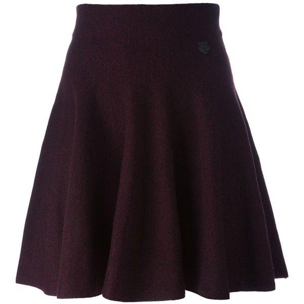 Kenzo Mini Tiger Skater Skirt (17.390 RUB) ❤ liked on Polyvore featuring skirts, mini skirts, circle skirt, mini skater skirt, elastic waist mini skirt, purple pleated skirt and pleated skater skirt