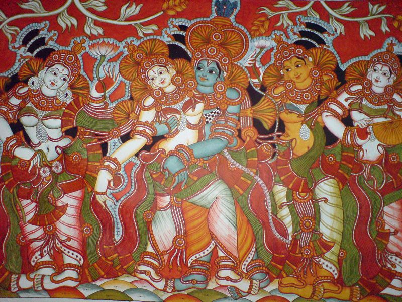 Kerala mural india kerala mural art pinterest for Mural kerala