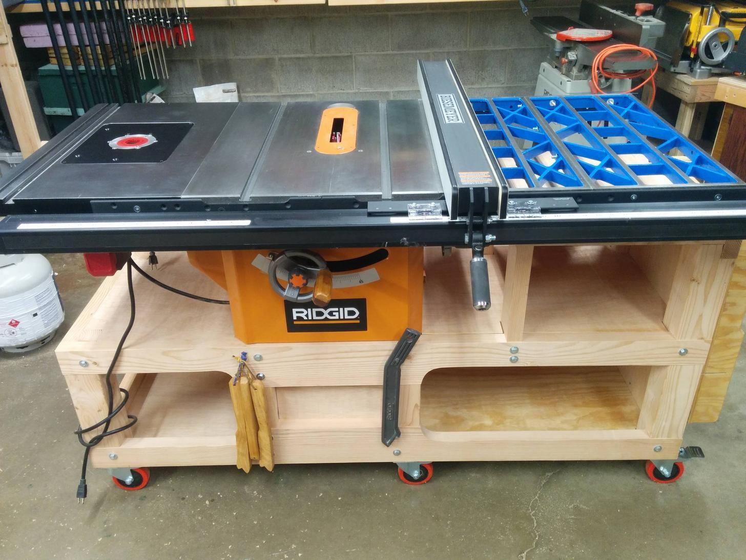 Some Upgrades To My Ridgid R4512 In 2020 Ridgid Table Saw
