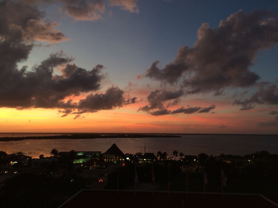 Watching The Sunset In Mexico #sunset #clouds #mexico #beautiful #clouds #cancun #city #vacation