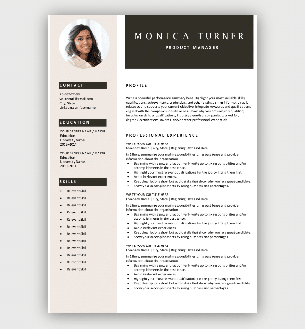 Download Resume Templates Free Resume Template Download Cv Templates Free Download Resume Template Professional