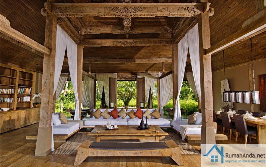 desain interior rumah kayu jawa elegan & desain interior rumah kayu jawa elegan | RUMAH JAWA | Pinterest ...