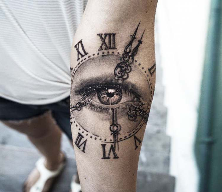 Clock With Eye Tattoo By Niki Norberg Post 21670 Tattoos Eye Tattoo Watch Tattoos