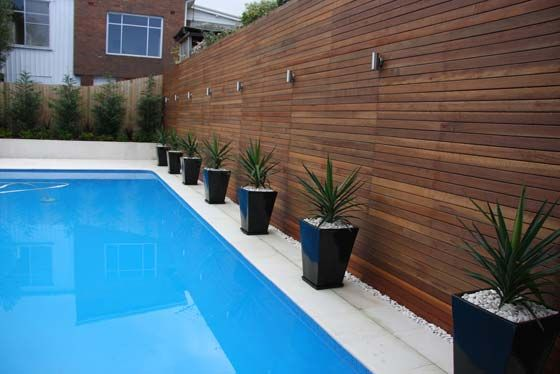 Modern Pool Landscape Has Its Place