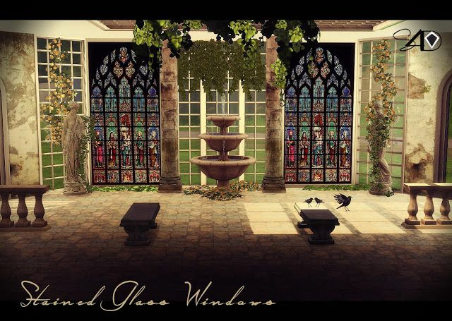 Sims 4 Cc S The Best 22 Stained Glass Windows By Daer0n
