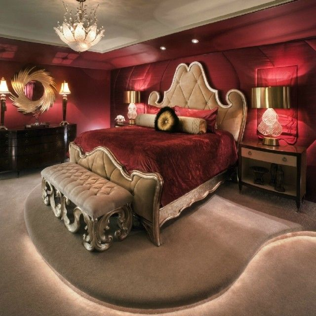 Exceptionnel Red And Gold Bedroom Designed By The Talented @charles Elliott Elliott Neal  Master Bedroom Design