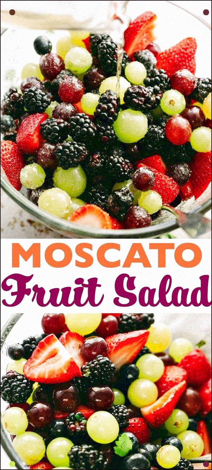 Photo of Ensalada de frutas Moscato – Preparada con coloridas uvas y bayas,