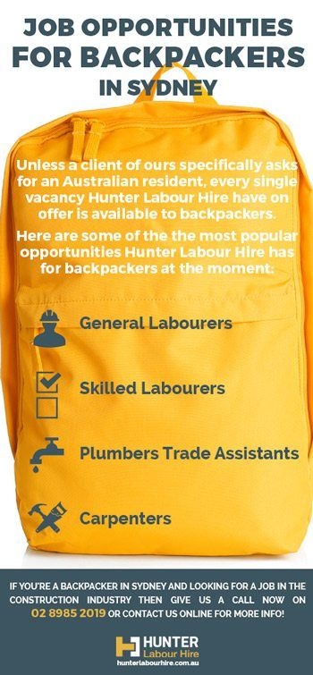 Backpacker Jobs Sydney Hunter Labour Hire Recruitment - experienced labourer trade assistant resume sample