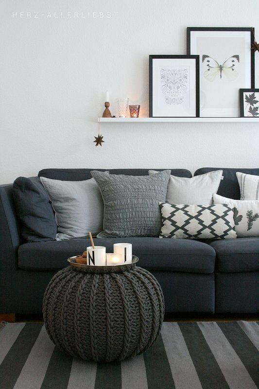 Wohnzimmer gemütlich in grau ähnliche tolle Projekte und Ideen wie ...