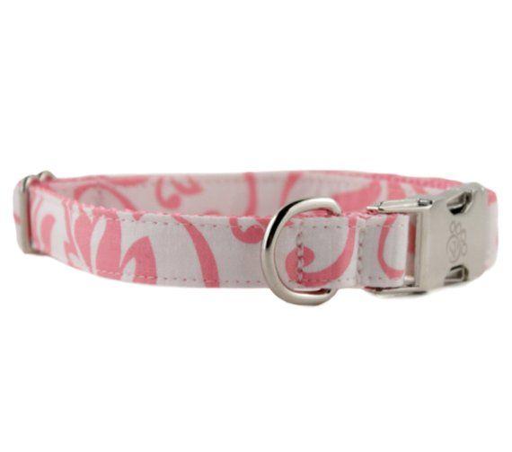 bfbf84702f19 White Dog Collar - Valentine Dog Collar - Pink White Dog Collar - Wedding Dog  Collar - Girl Dog Coll