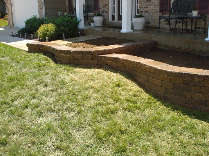 Front Yard Retaining Wall - O\'Fallon, MO | A+ Landscape Solutions ...