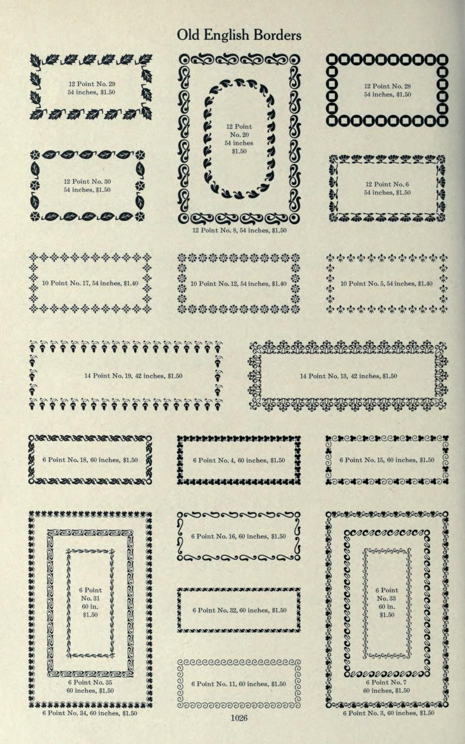 Old English Borders  Page 1026 | Illustrated Antique Books | Antique