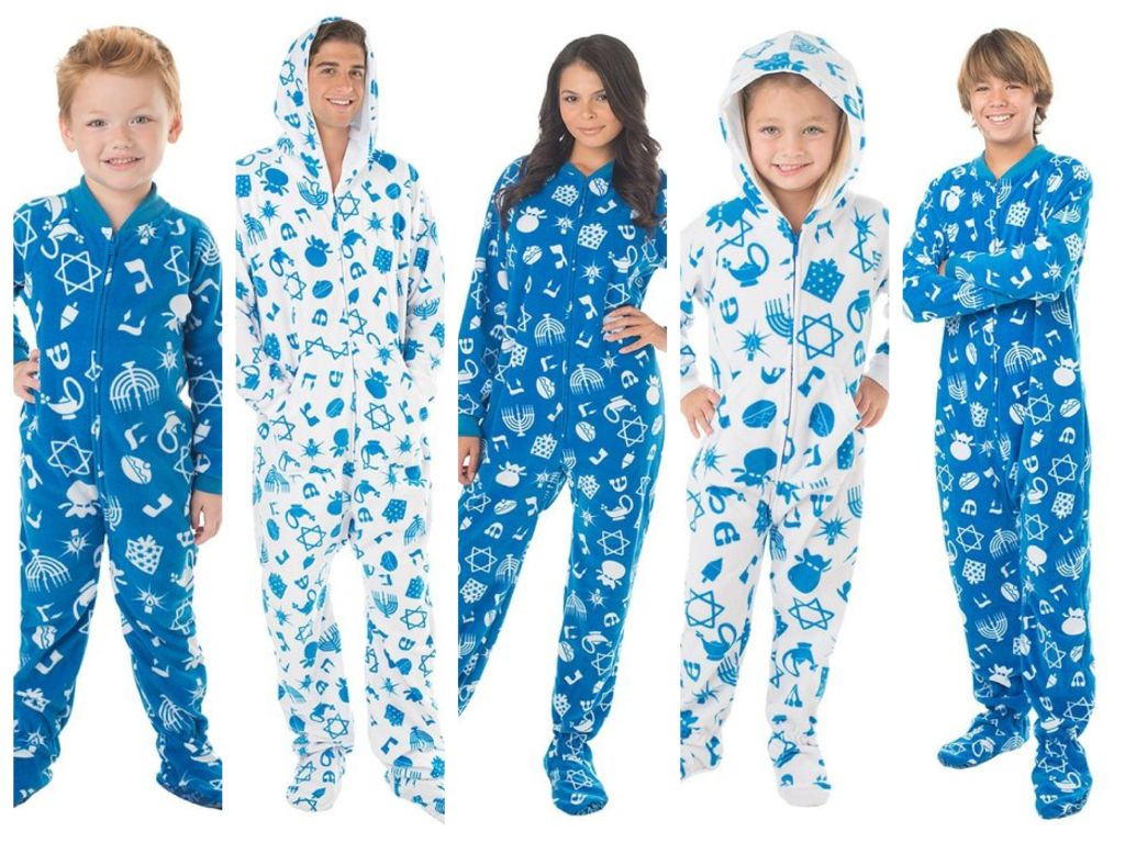Family Hanukkah Footed Pajamas | Mommy, Daddy & Me | Pinterest ...