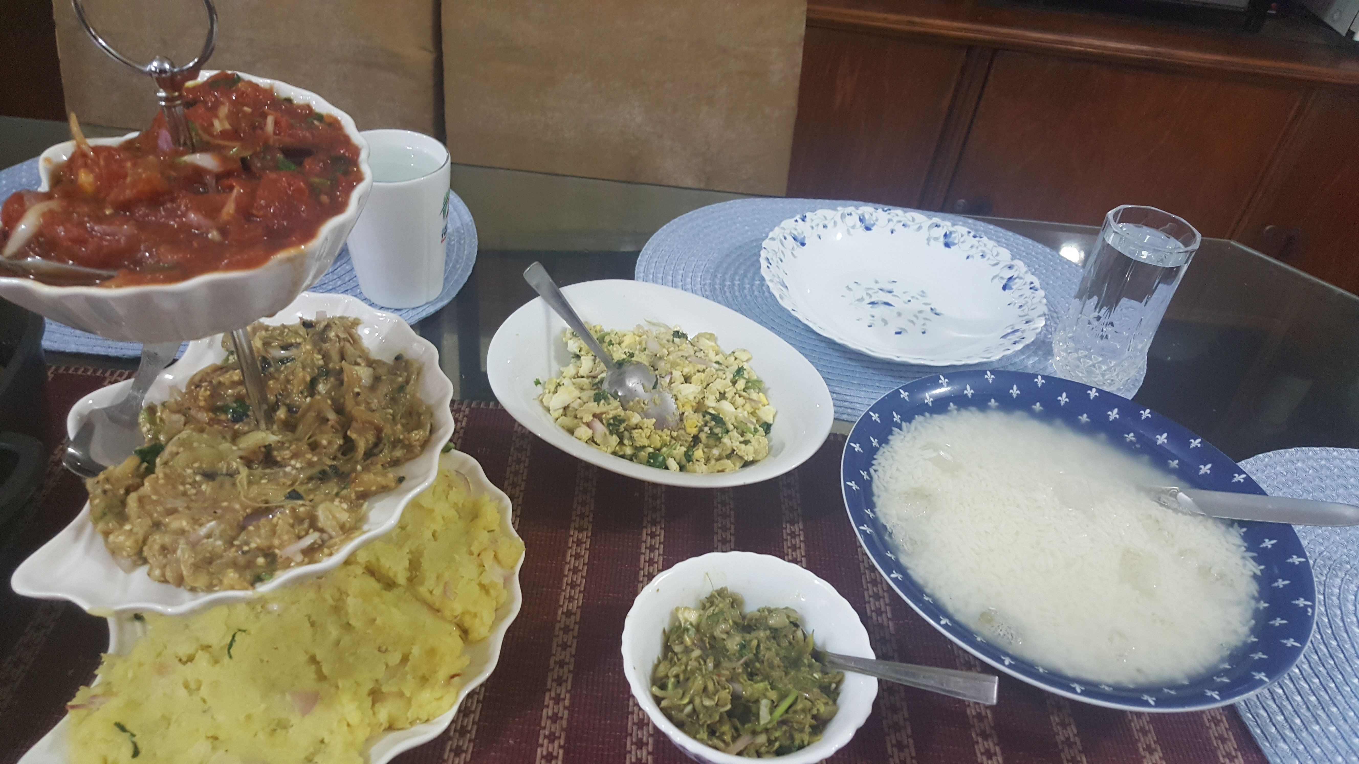 A traditional Bengali new year lunch Food, Lunch