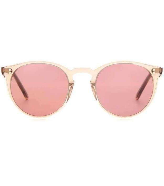 40d5651cb0 Gafas de sol color de rosa, tendencia primavera/verano 2016: fotos de los  modelos - Gafas sol rosa Oliver Peoples nude