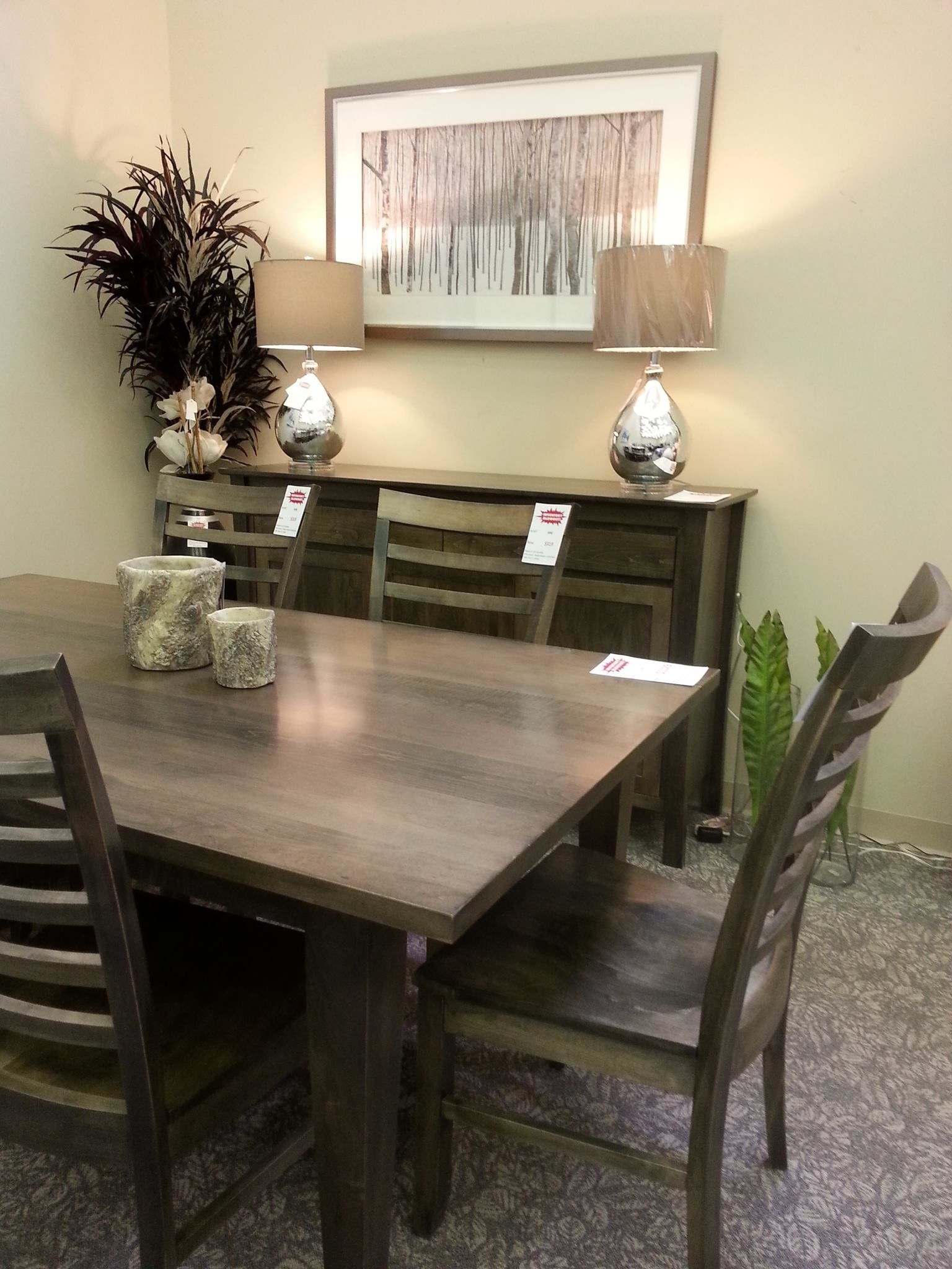 Finished Maple Dining Set In Carbon Stain Tapered Leg Table And Rockland Style Server See Our Dining Sets In Dinning Room Furniture Home Decor Custom Furniture