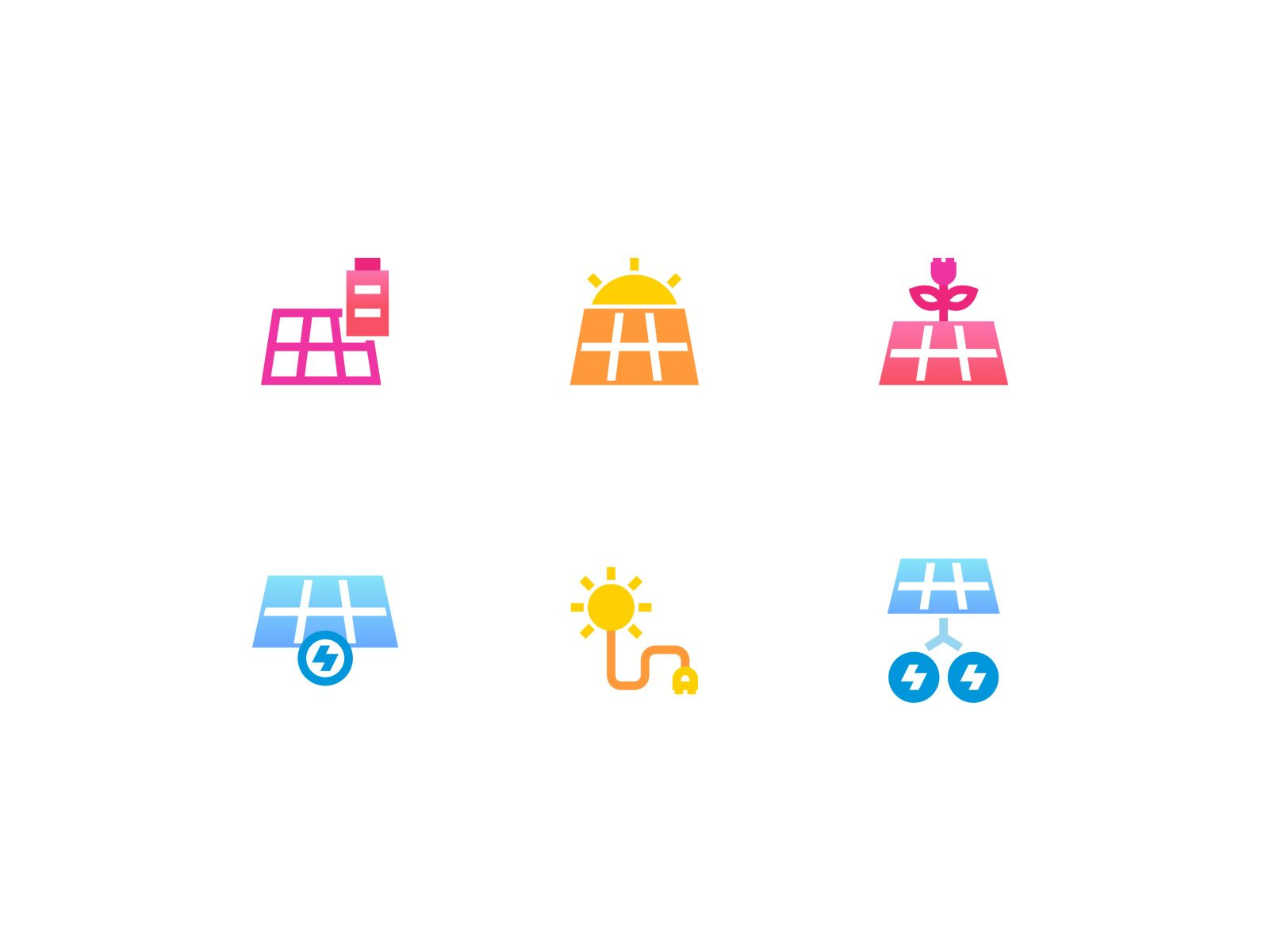 Bio Solar Energy Gradient Icon