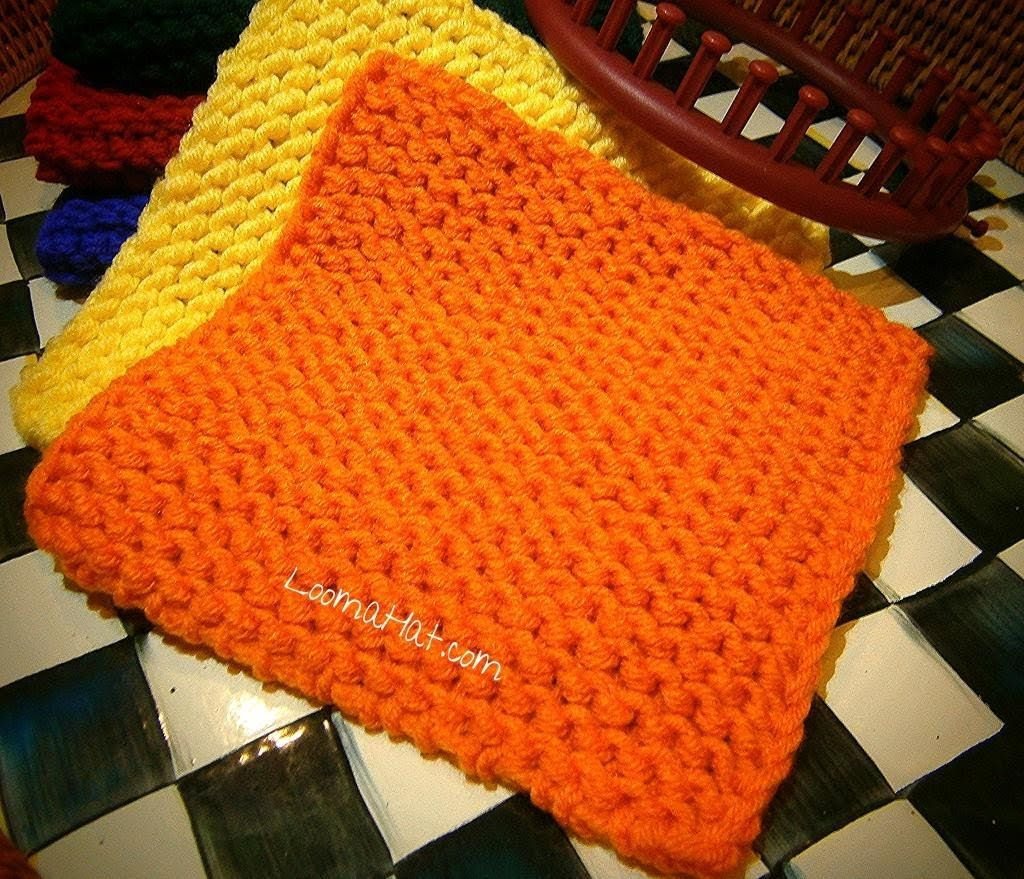 Knit a Square on any Loom - Flat Panel on round, circular, straight ...