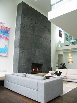 Concrete Fireplace Modern Fireplace Fireplace Surrounds Thj