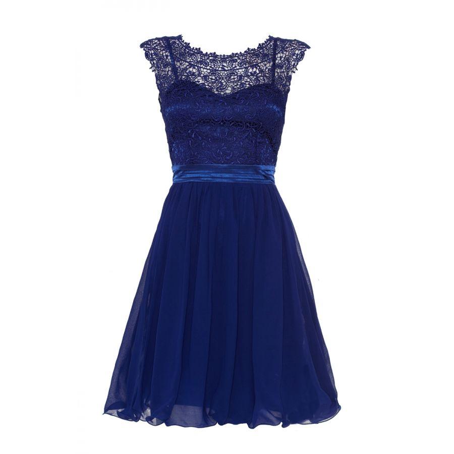Royal blue lace chiffon prom dress quiz clothing bridesmaid