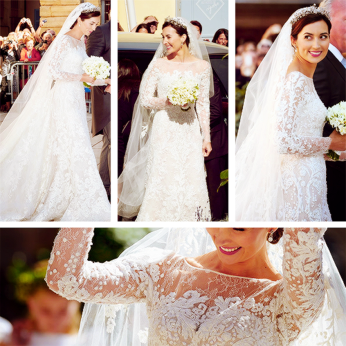 Yoursweetremedy Details Of The Wedding Dress Princess Viktoria Bourbon Parma Designed By Elie Saab