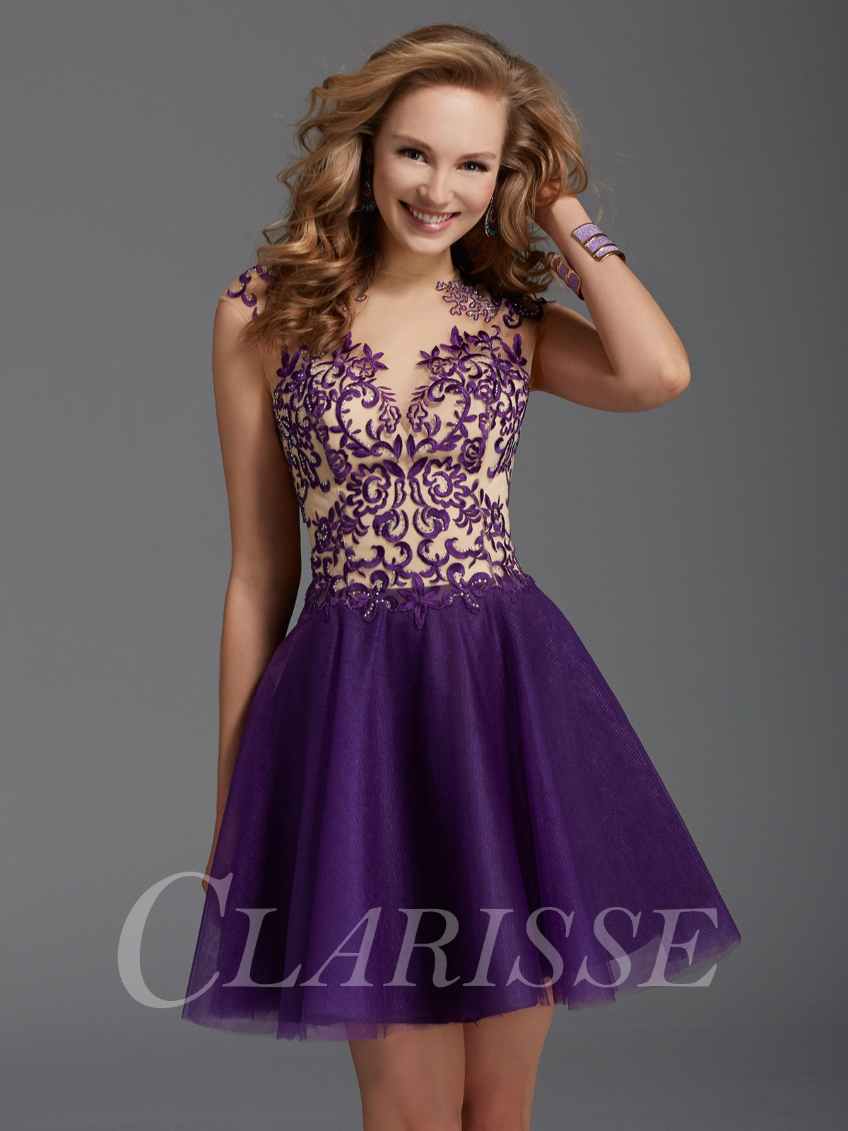 Clarisse Short Formal Dress 2918 | Modest homecoming dresses ...