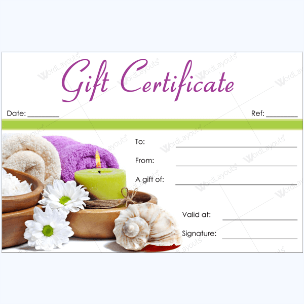 Get Beautifully Designed Printable Spa Gift Certificate Templates From Our  Premium Certificates Collection. All Designs Are Editable.  Online Gift Certificate Template