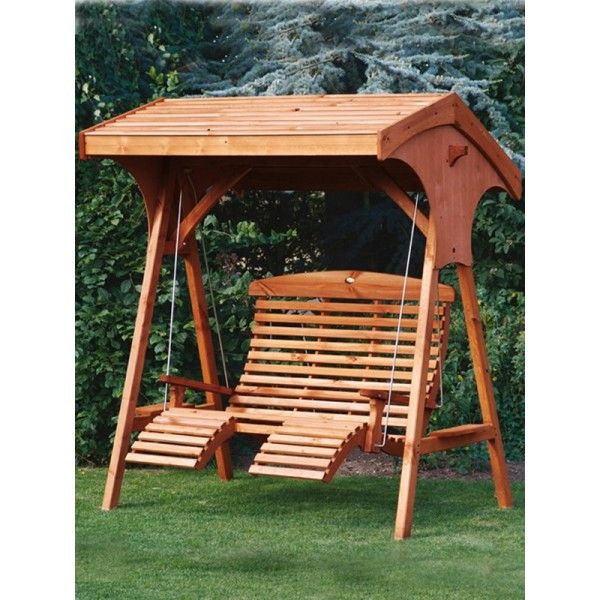 Buy Outdoor Garden Teak And Oak Swing Seats At Our Online Gardening Uk Store.  Shop For AFK Garden Furniture Swing Seats. Roofed Apex Comfort Seat Teak ...