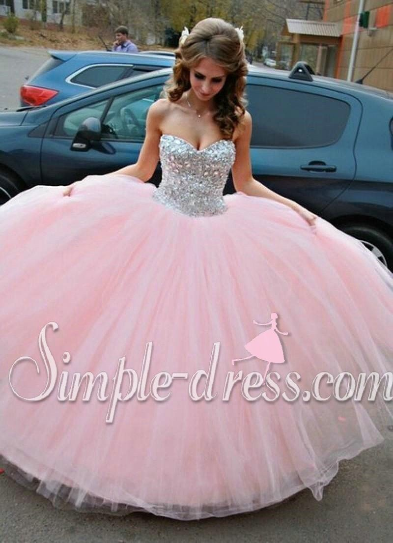 Buy Simple-Dress 2015 Hot-selling Ball Gown Sweetheart Long Tulle ...