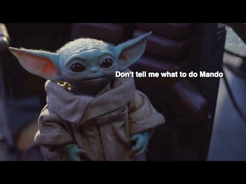 Baby Yoda But With Subtitles Youtube Star Wars Pictures Yoda Disney Records