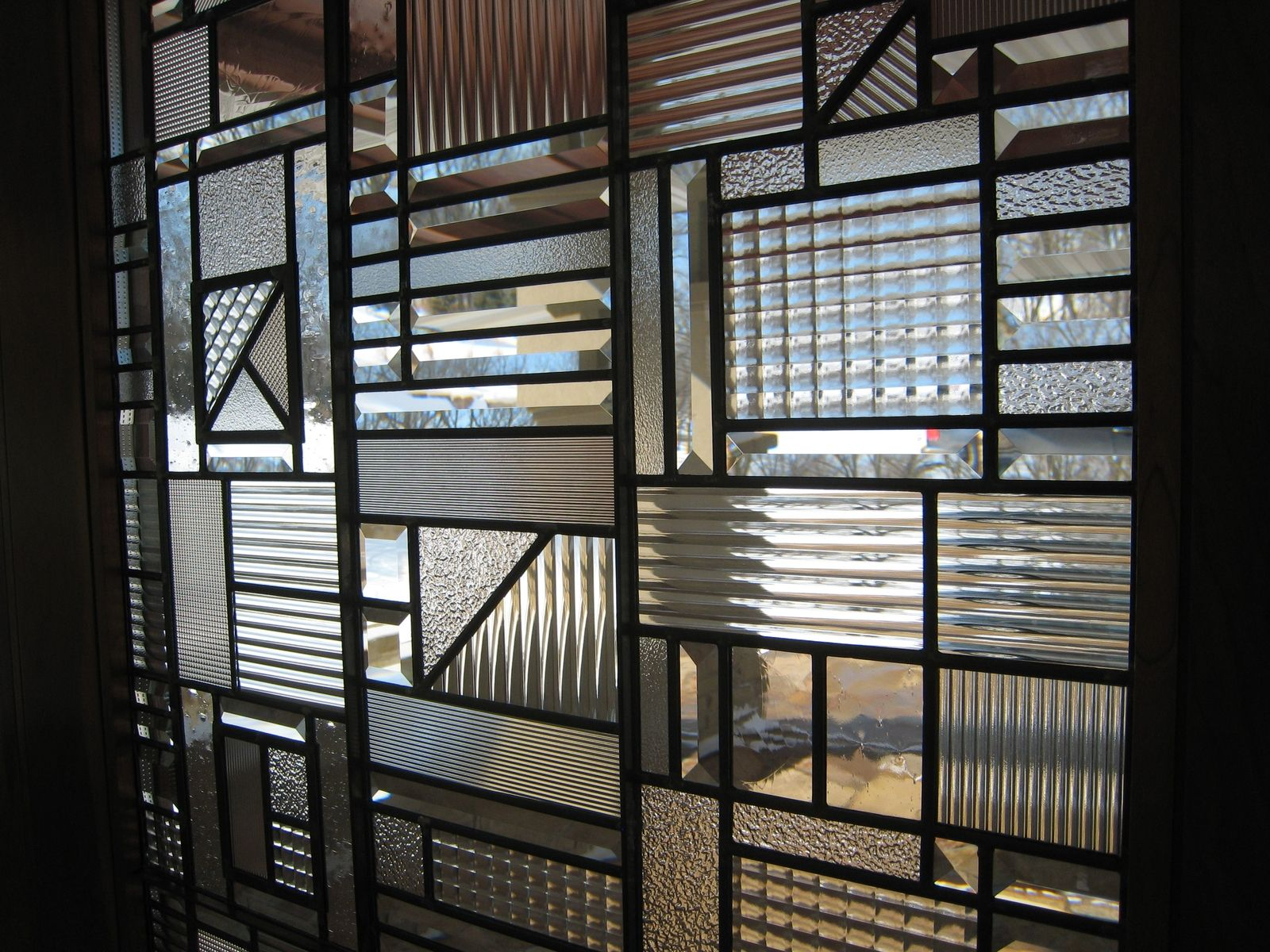 Contemporary Clear Textured Leaded Glass Leaded Glass Leadlight Windows Glass Wall Art
