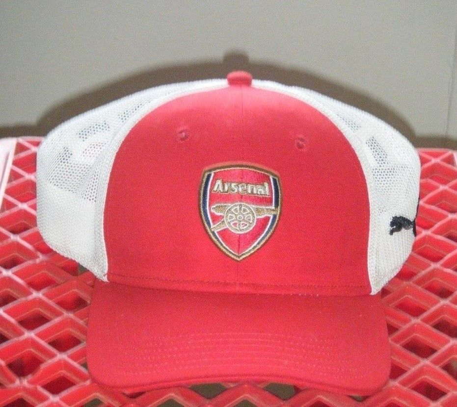 61e1033d6af5 PUMA Arsenal Gunners Cap Hat RED Size L Official Used  PUMA  Arsenal
