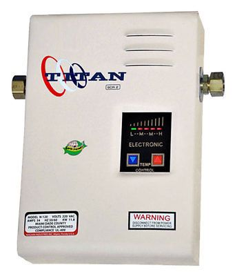 Titan N 120 Tankless Water Heater Newest Electric Model Fast Free Shipping Tankless Water Heater Electric Water Heater Tankless Water Heater Electric
