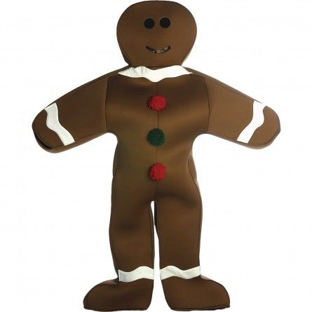 Adult Gingerbread Man Costume Easter Costumes Pinterest - halloween decoration rentals