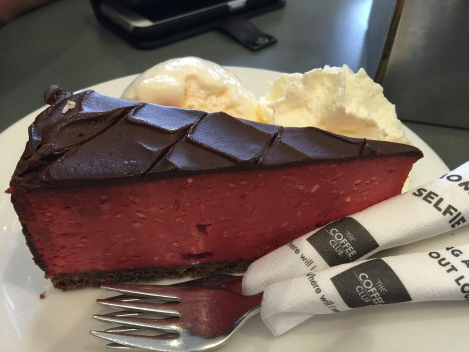 Cherry ripe cheesecake the coffee club stockland for Table 52 townsville