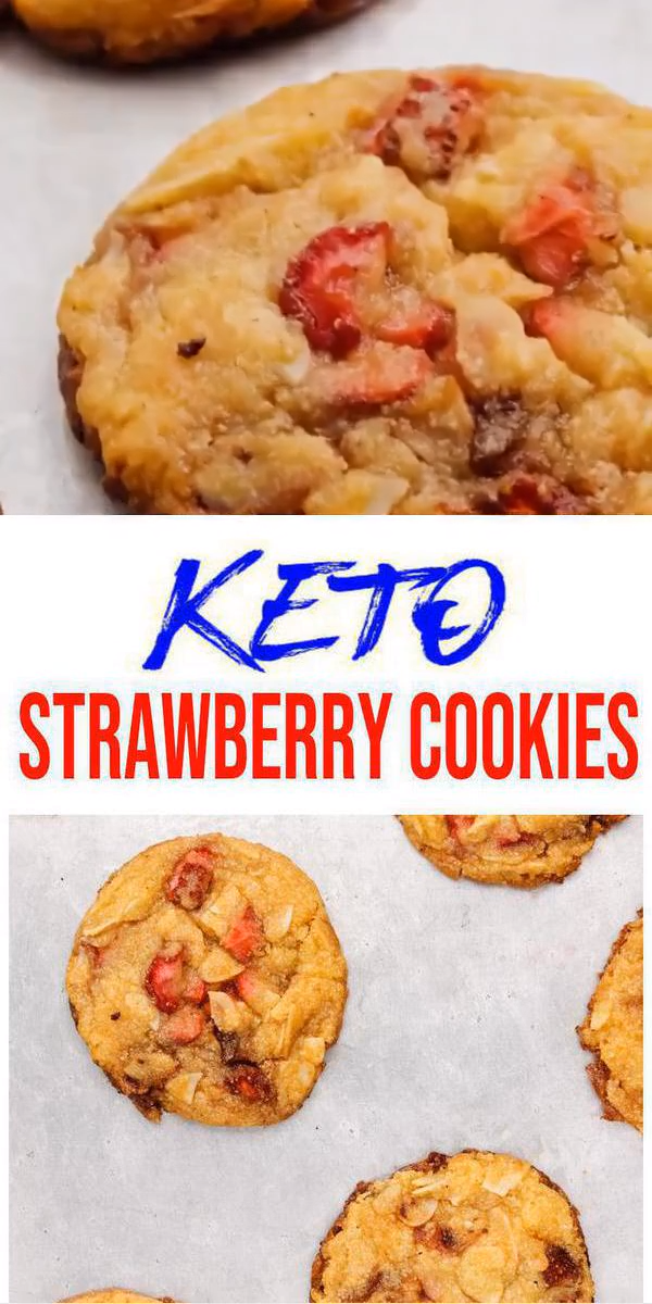 BEST Keto Cookies! Low Carb Keto Strawberry Cookie Idea – Quick & Easy Ketogenic Diet Recipe – Completely Keto Friendly #quickcookierecipes